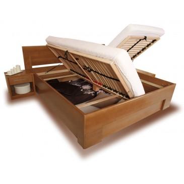 Zvýšená postel s úložným prostorem VAREZZA 7 senior 160x200, 180x200, masiv buk