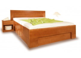 Zvýšená postel s úložným prostorem VAREZZA 7 senior 160x200, 180x200, masiv buk - moření třešeň