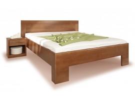 Zvýšená postel VAREZZA 7 senior 160x200, 180x200, masiv buk - moření tabák
