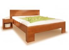 Zvýšená postel VAREZZA 7 senior 160x200, 180x200, masiv buk - moření třešeň