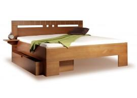 Manželská postel z masivu VAREZZA 1 senior 160x200, 180x200, masiv buk - moření tabák