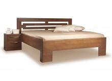 Zvýšená postel VAREZZA 2 senior 160x200, 180x200, masiv buk - moření tabák