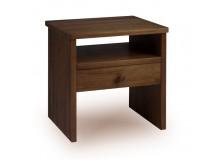 Noční stolek G-W1 - masiv borovice - moření ořech
