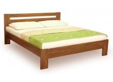 Manželská postel z masivu IVA 160x200, 180x200, buk - moření tabák