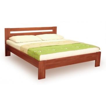Manželská postel z masivu IVA 160x200, 180x200, buk - moření třešeň