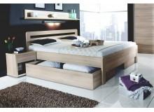 Manželská postel dvojlůžko KARLO - oblé, lamino, 160x200, 180x200 cm