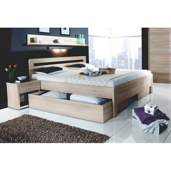 Manželská postel dvojlůžko KARLO - oblé 160x200, 180x200
