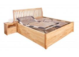 Zvýšené jednolůžko - dětská postel s úložným prostorem IDE30645, bílá-ořech