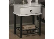 Noční stolek CS4024, bílá-černá