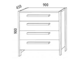 Manželská postel - dvoulůžko BORA 160x200, 180x200, masiv borovice