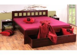 Manželská postel - dvoulůžko VIKI 160x200, 180x200, masiv borovice