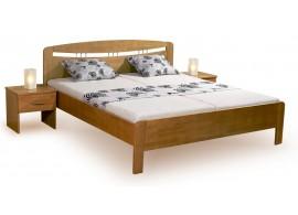 Zvýšená postel s úložným prostorem VALENCIA senior, masiv buk - bílá