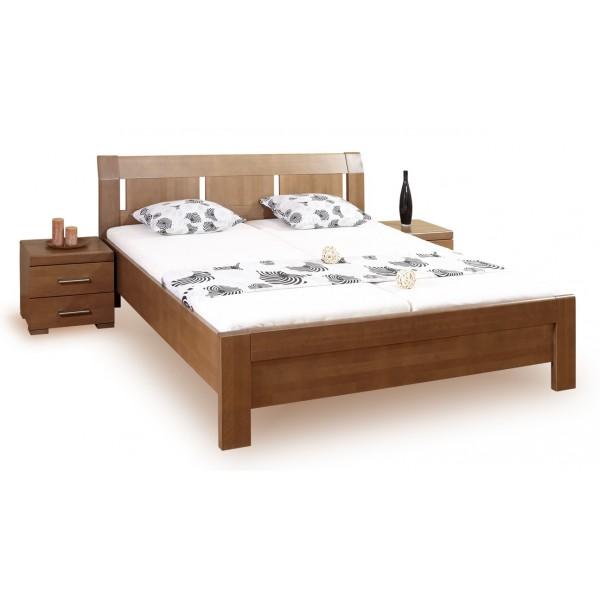 Manželská postel - dvoulůžko LIVIA 2. 160x200, 180x200, masiv buk