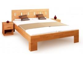 Manželská postel - dvojlůžko LEONA L1 160x200, 180x200, masiv buk - třešeň světlá