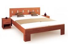 Manželská postel - dvojlůžko LEONA L1 160x200, 180x200, masiv buk - třešeň tmavá