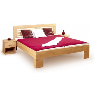 Manželská postel z masivu LEONA L2 160x200, masiv buk