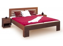 Manželská postel z masivu LEONA L2 160x200,180x200, masiv buk - moření tmavý ořech