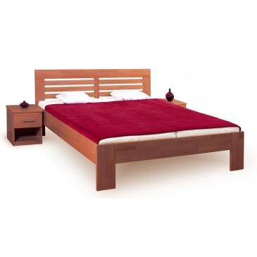 Manželská postel z masivu LEONA R2 160x200, 180x200, masiv buk - tmavá třešeň