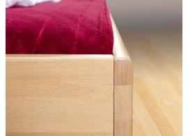 Manželská postel - dvoulůžko PARMA, dřevo-kov, 160x200, bílá-černá