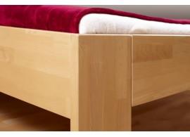Manželská postel dvoulůžko VENICE, dřevo-kov, 160x200, bílá