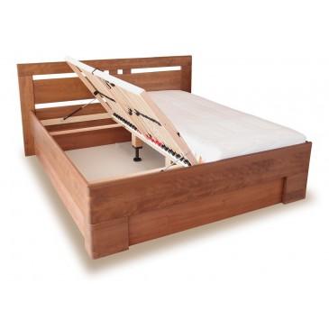 Zvýšená postel s úložným prostorem VAREZZA 1, 160x200, 180x200, masiv buk
