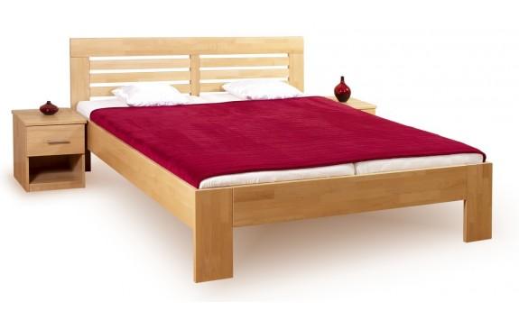 Manželská postel - dvoulůžko LEONA R2 180x200, masiv buk