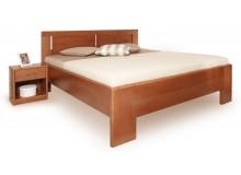 Manželská postel - dvoulůžko DELUXE 3 senior 160x200, 180x200, masiv buk