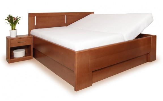 Zvýšená postel s úložným prostorem DELUXE 3., senior 160x200, 180x200, buk