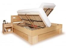 Manželská postel s úložným prostorem VAREZZA 6A 160x200, 180x200, masiv buk