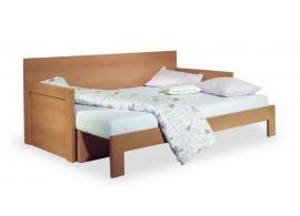 Manželská postel - dvoulůžko RONA 180x200, masiv borovice - vosk