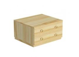 Šatní skříň třídílná - ratan BR125, masiv borovice