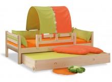 Dětská postel jednolůžko DOMINO se zábranou D902 - OZ, masiv smrk