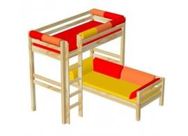 Noční stolek BR001, masiv borovice