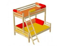 Dětská postel s úložným prostorem BR435, masiv smrk