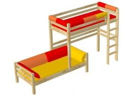 AKCE - Manželská postel FILIP 180x200, masiv buk + rošty ZDARMA !