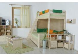 Dětská postel s úložným prostorem BR437, masiv smrk