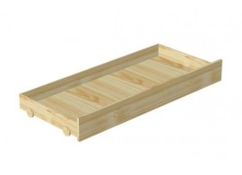Dětská zvýšená postel s úložným prostorem Maxim EK02, masiv borovice - bílá