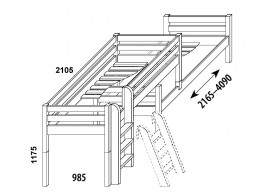 Kontejner k psacímu stolu HLM-03, bílá