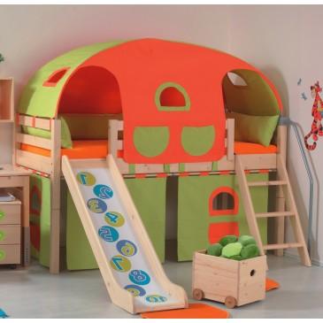 Dětská postel s přistýlkou LARA, masiv borovice