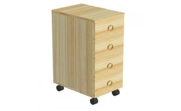 Kontejner 4-zásuvkový+kolečka D711-Domino