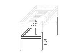 Palanda horní spaní dvojlůžko (zvyšující prvky) D927d-Domino