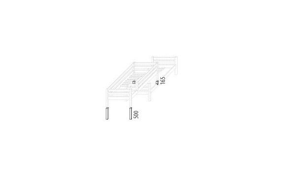 Zvýšené jednolůžko posuvné (zvyšující prvky) D934d-Domino