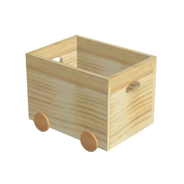 Krabice na hračky s kolečky D810-Domino
