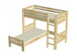 Moderní čalouněná postel BOX SPRING bílá, 180x200
