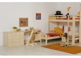 Dětská poschoďová postel s úložným prostorem SERAFIN