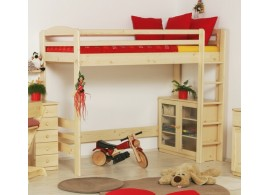 Dětská patrová postel se zábranou a úložným prostorem JENÍČEK