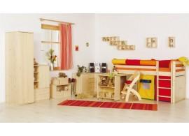 Patrová postel elko s žebříkem D1-DONALD, buk, javor