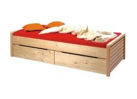 Moderní čalouněná postel s úložným prostorem REAL 180x200, loft brown