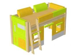 Noční stolek 2. KL design, masiv borovice, smrk