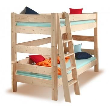 Dětská poschoďová postel Sendy 300/01, masiv smrk
